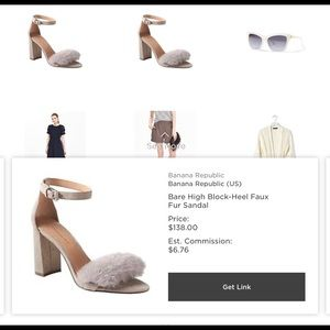 Fluffy banana republic grey pumps